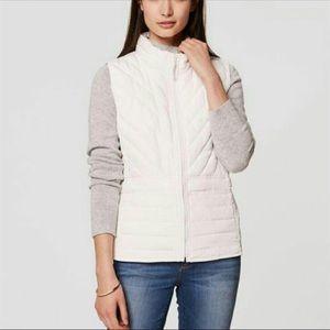 Loft Puffer Vest in White